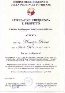 2012 - Coordinatori per la progettazione e per l'esecuzione dei lavori